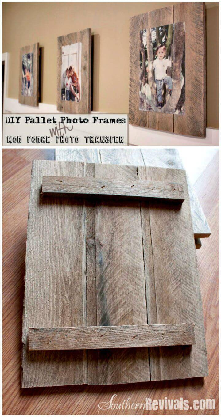 DIY Pallet Photo Frames With Mod Podge Photo Transfer Tutorial