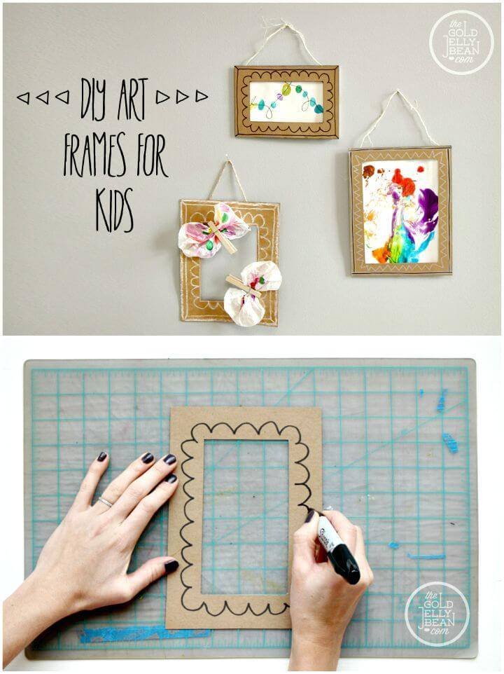 DIY Photo Frames For Kids Tutorial