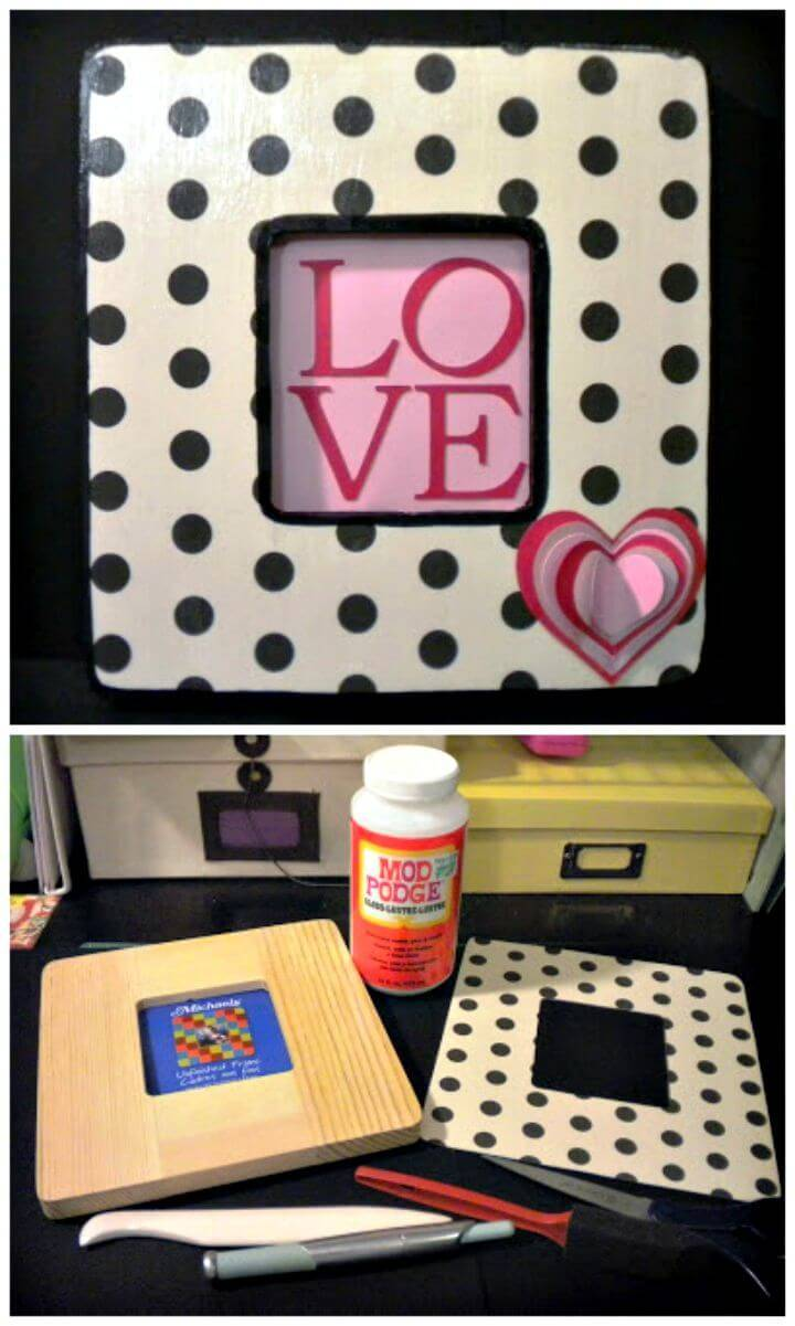 DIY Picture Frame Gift With Tutorial