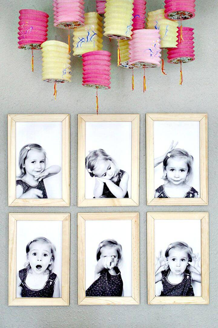 How To DIY Picture Frames Tutorial