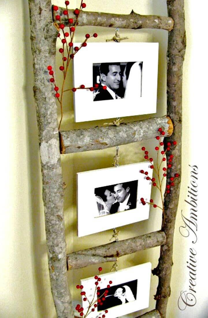 Easy DIY Picture Ladder Frame Tutorial