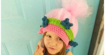 Easy Free Crochet Poppy Troll Hat Pattern