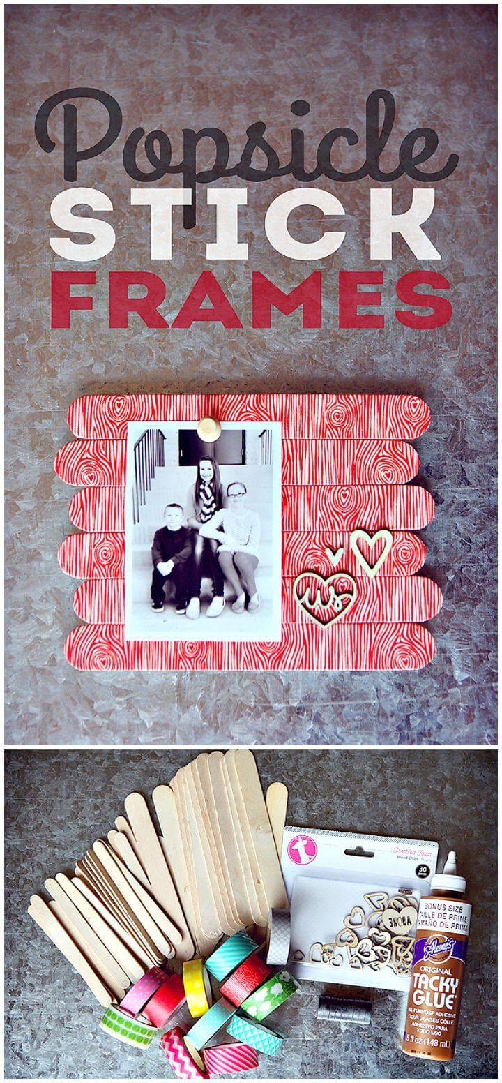 How To DIY Popsicle Stick Frames Tutorial