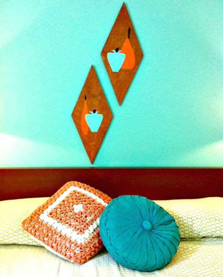 Easy DIY Retro Wood Wall Art Tutorial