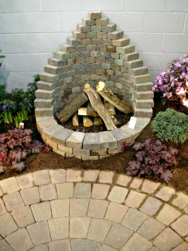 Easy DIY Round Fire Pit With Back Tutorial