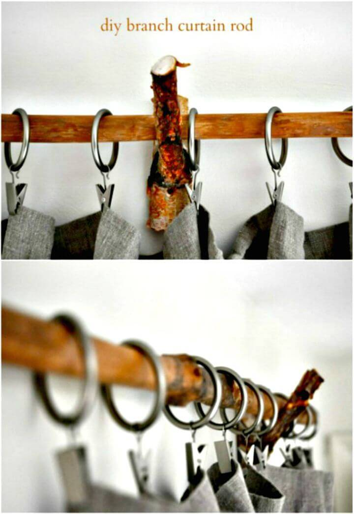 How To DIY Rustic Brand Curtain Rods And Rings Tutorial