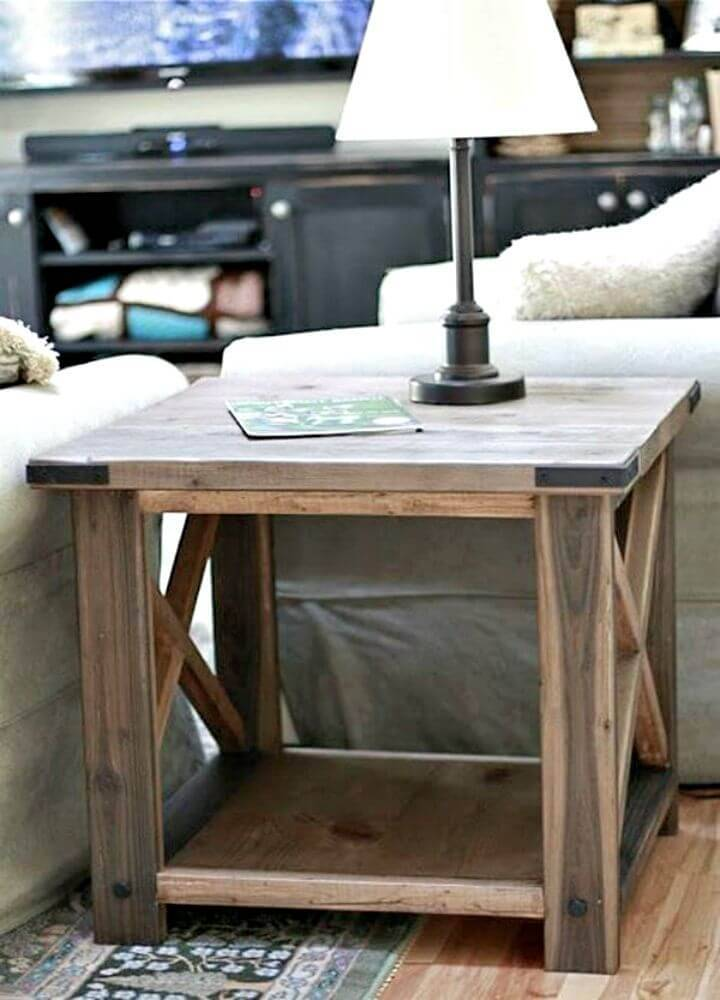 Easy DIY Rustic X Side Table Tutorial