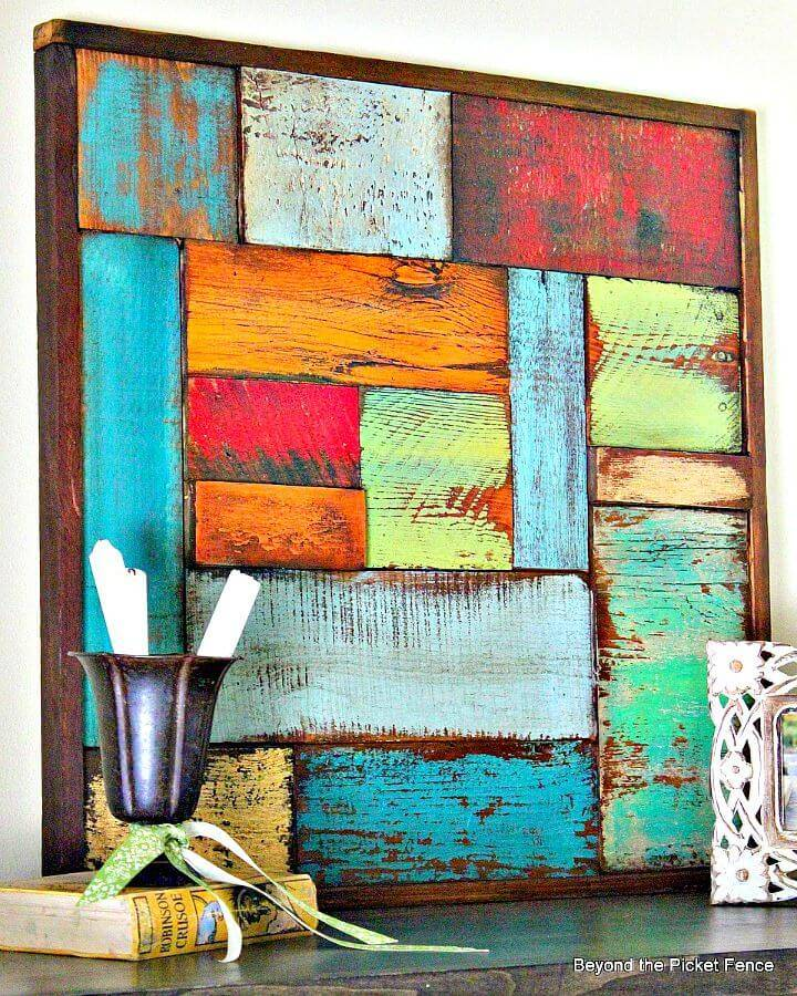 Easy DIY Salvaged Wood Art Tutorial