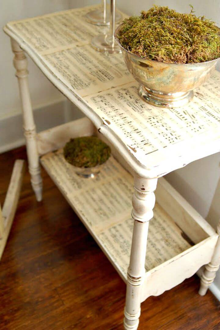 How To Make Sheet Music Side Table