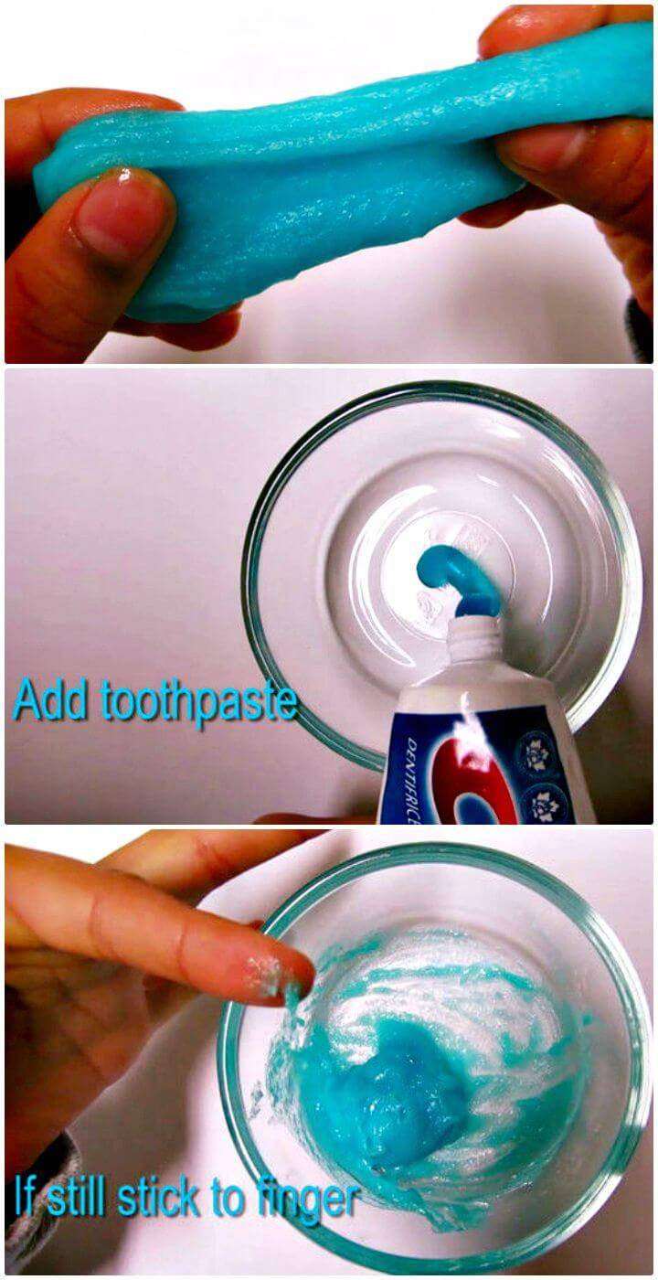 Easy DIY Slime With Toothpaste - Free Tutorial