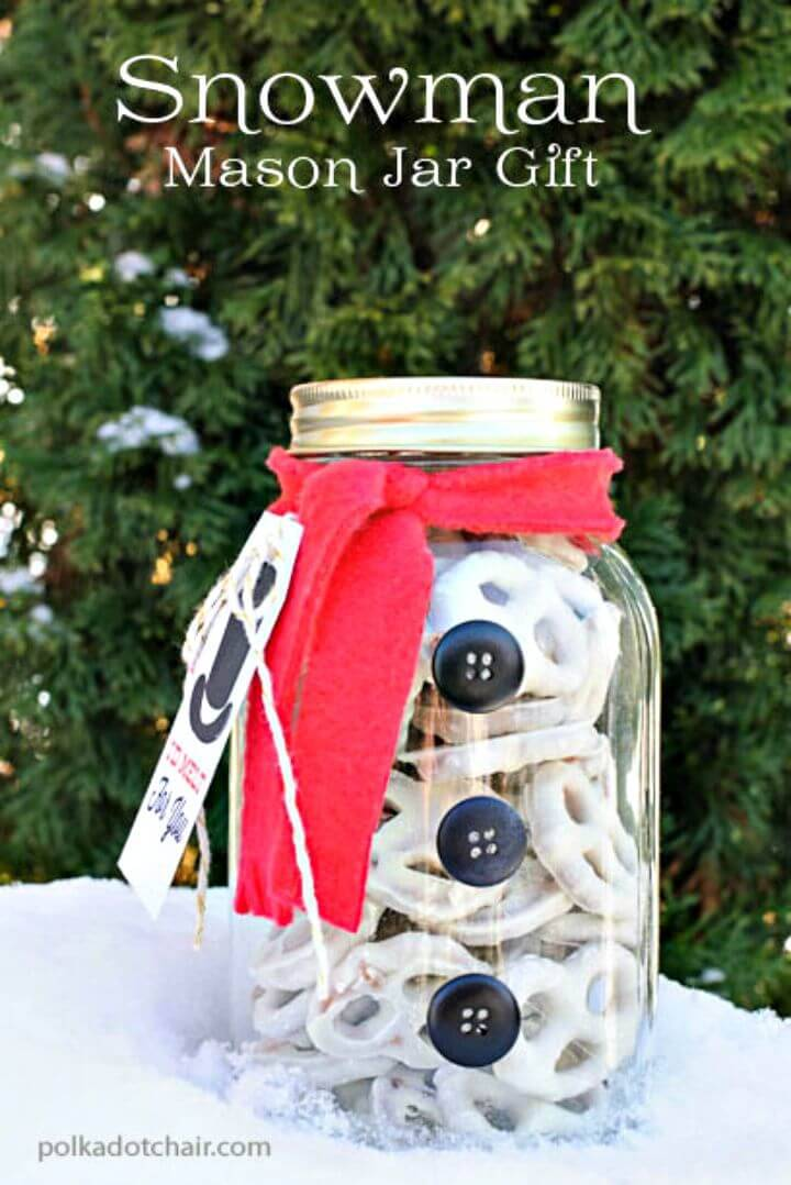 How To DIY Snowman Mason Jar Craft Idea