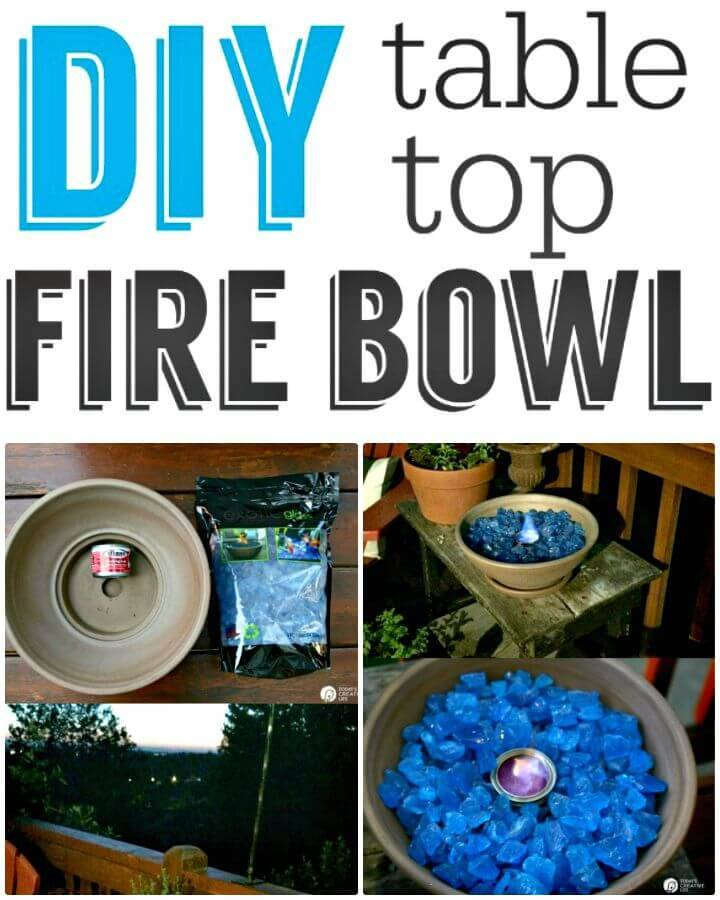 Easy DIY Tabletop Fire Bowl Tutorial