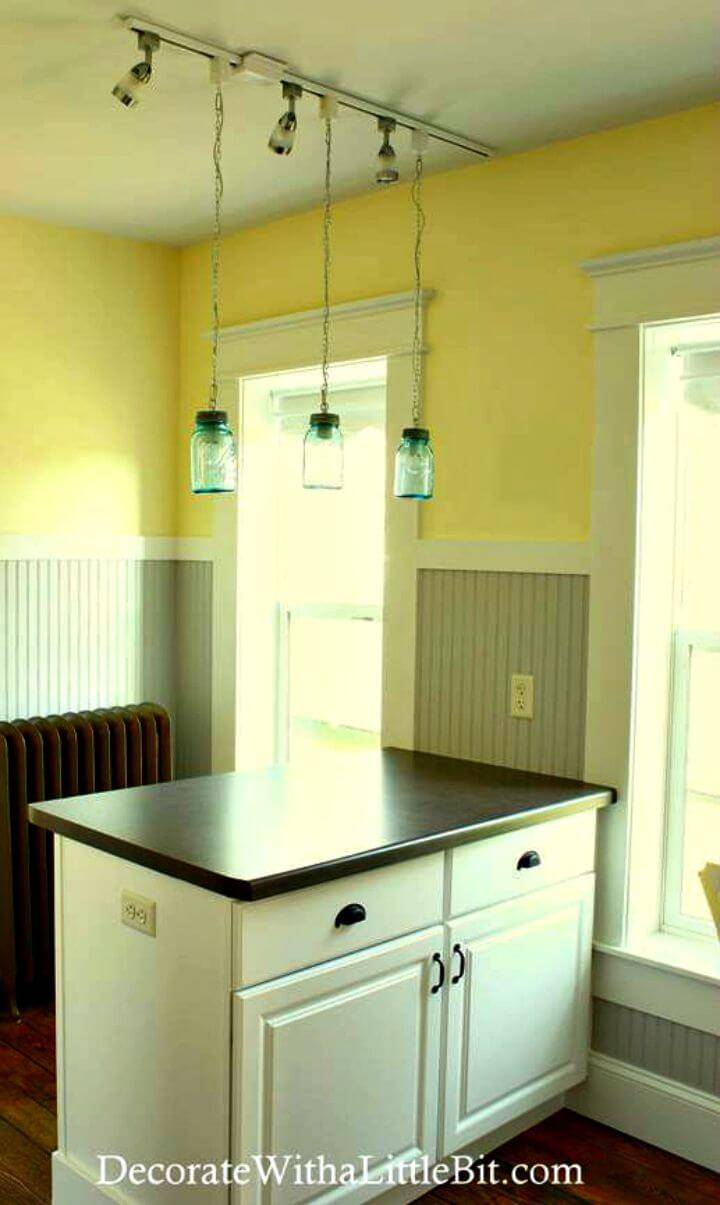 Easy DIY Vintage Canning Mason Jar Pendant Lights - Step By Step Free Tutorial