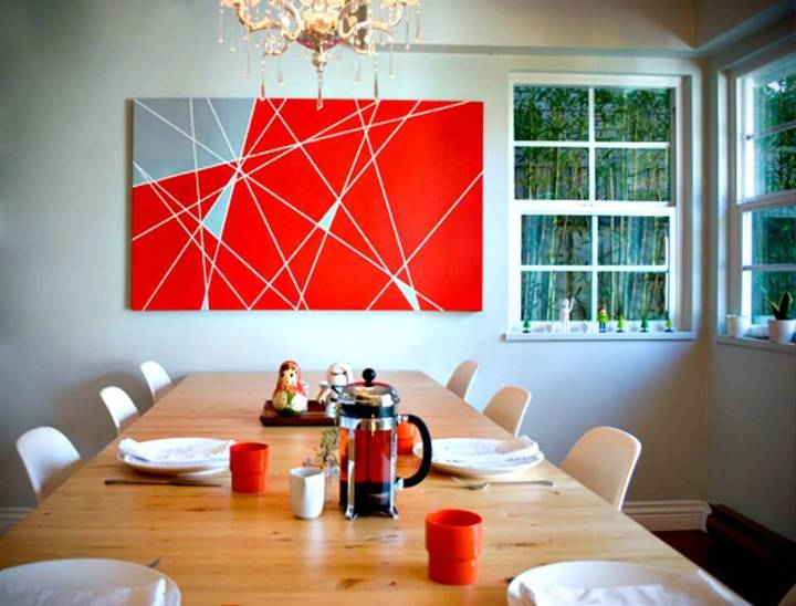 DIY Red Wall Art Project