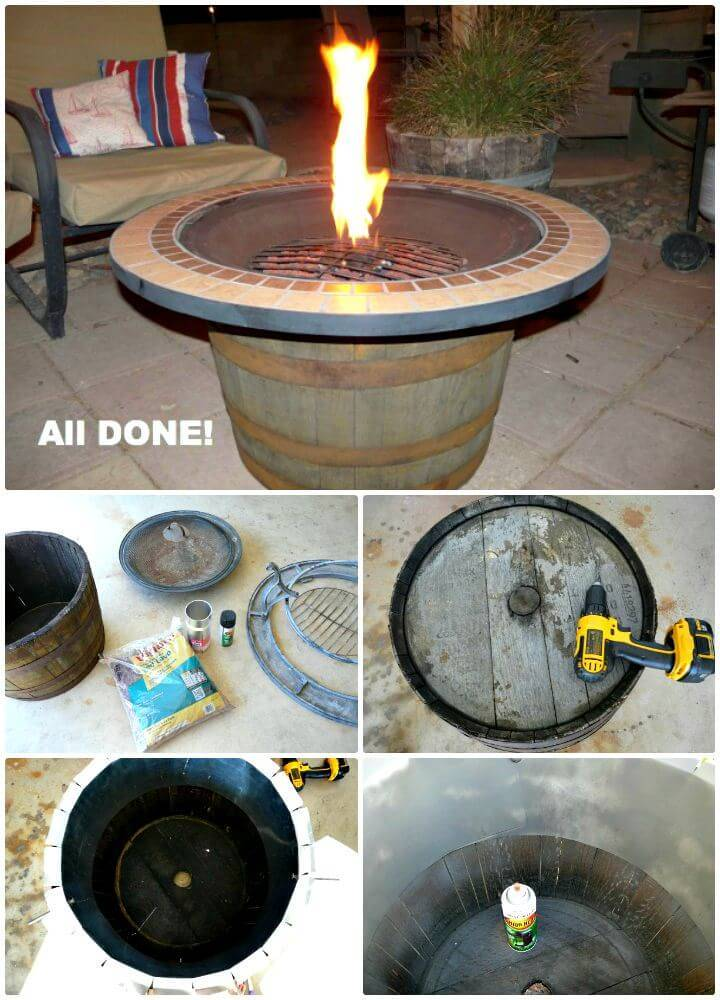 Easy DIY Whisky Fire Pit Tutorial
