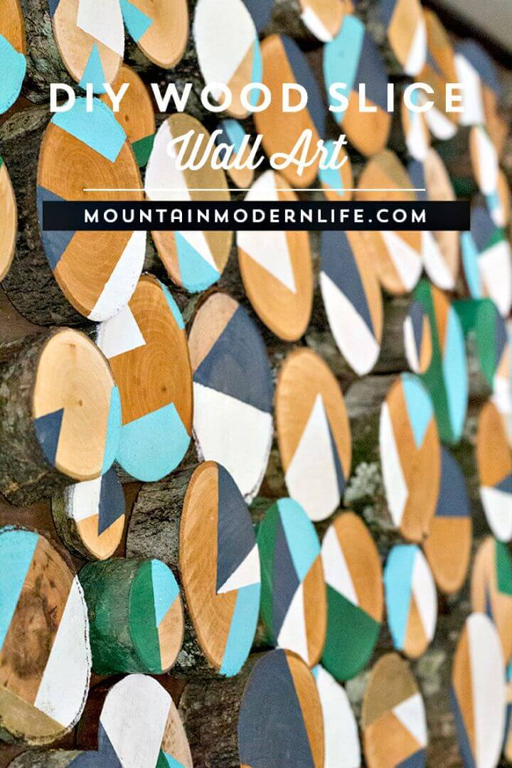 DIY Wood Slice Wall Art Tutorial
