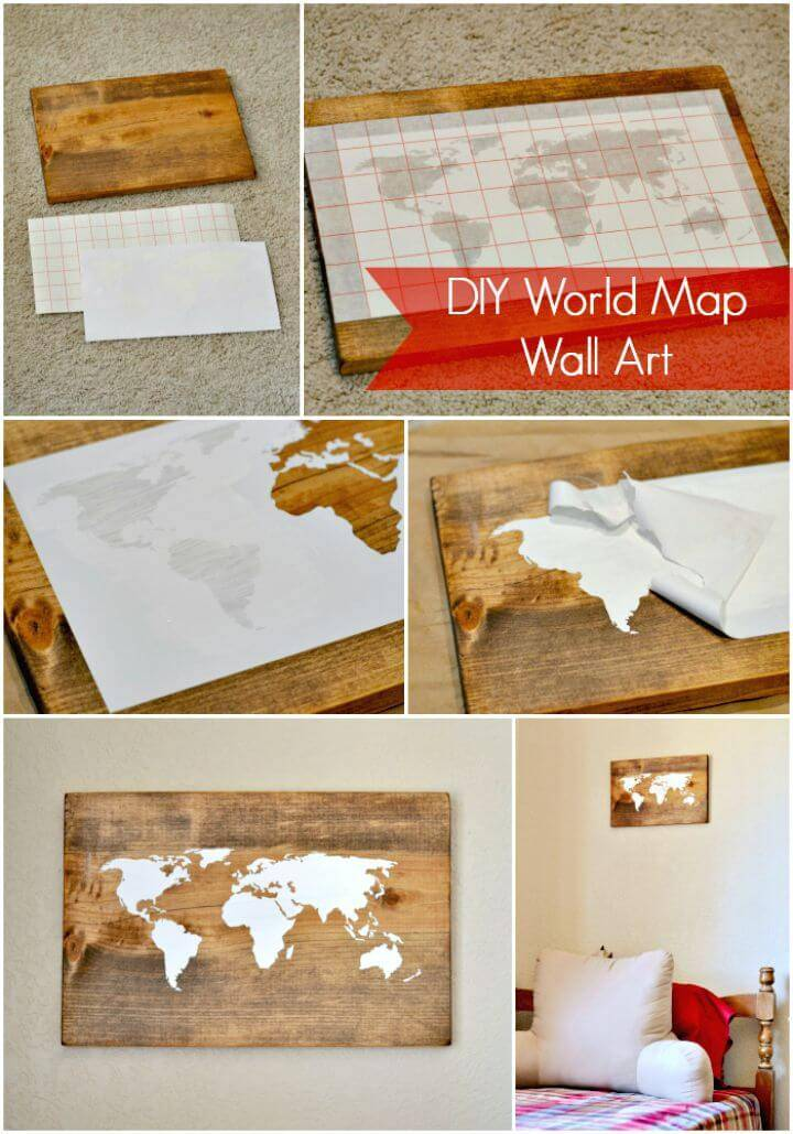 Easy DIY World Map Wall Art Tutorial