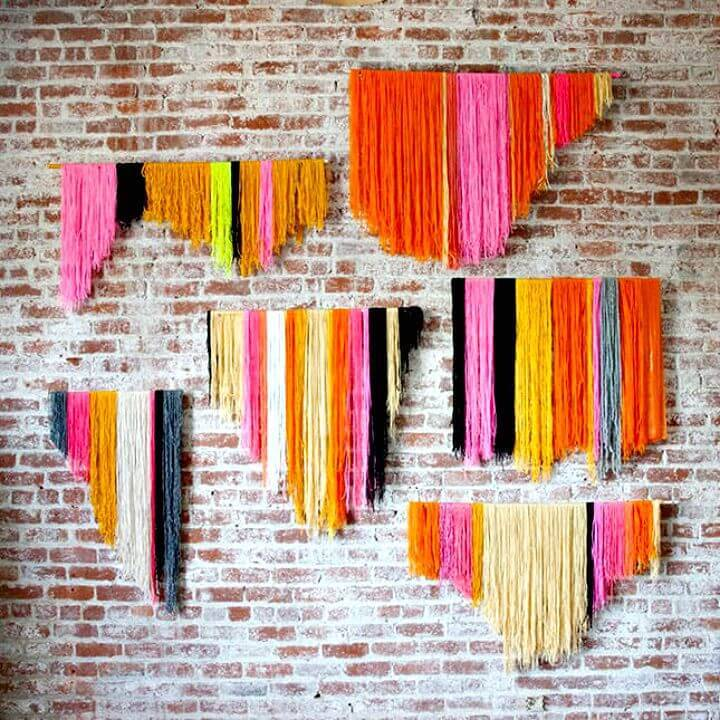 Easy DIY Yarn Banner Wall Art Tutorial