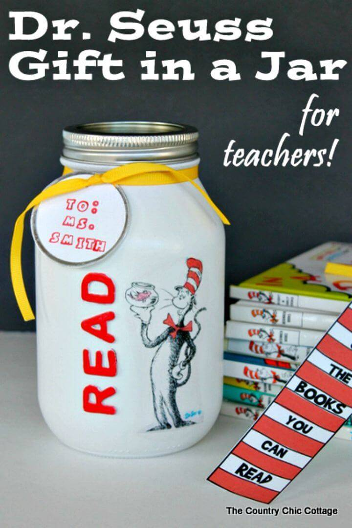 DIY Dr. Seuss Gift In A Jar For Teachers