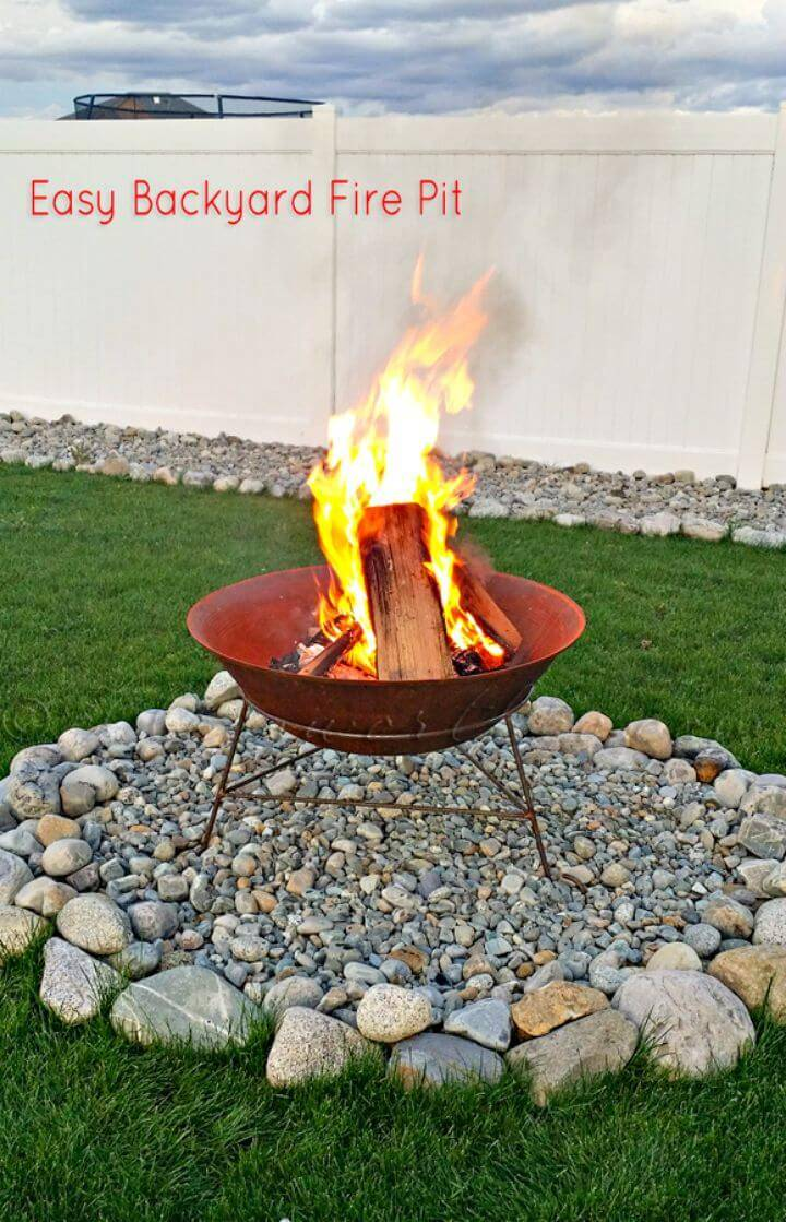 Easy DIY Backyard Fire Pit In Less Than 30 Minutes