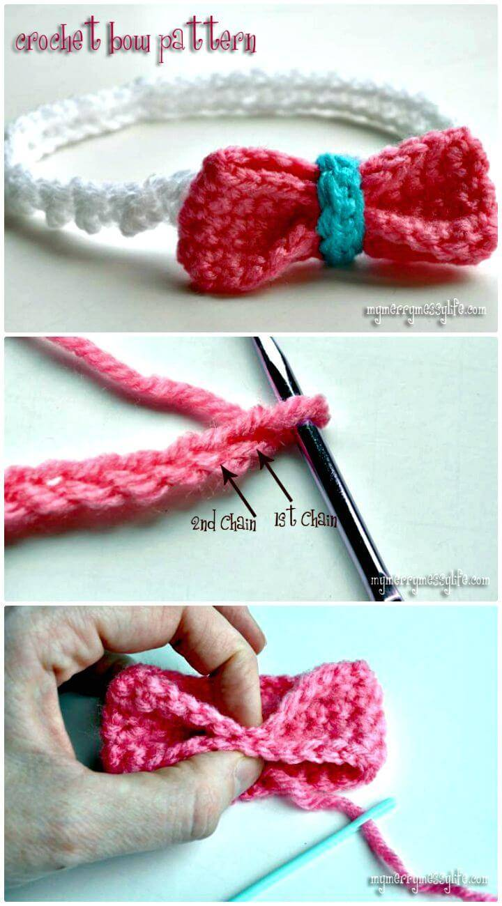 Easy Crochet Bow - Free Pattern