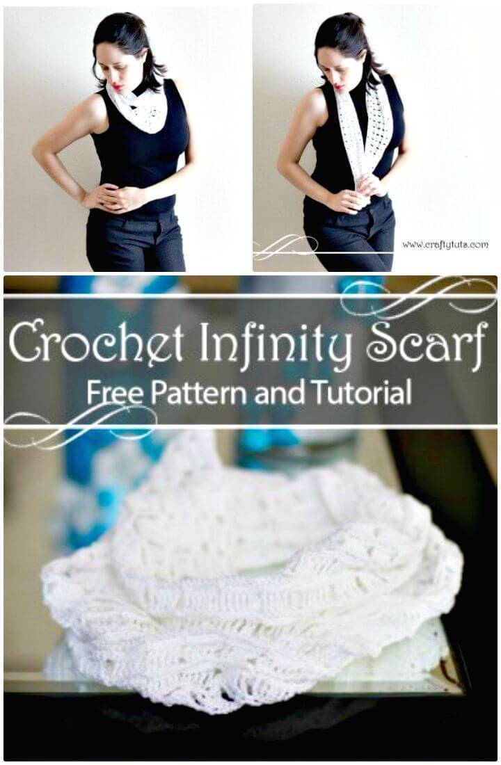 Easy Crochet Infinity Scarf Pattern And Tutorial