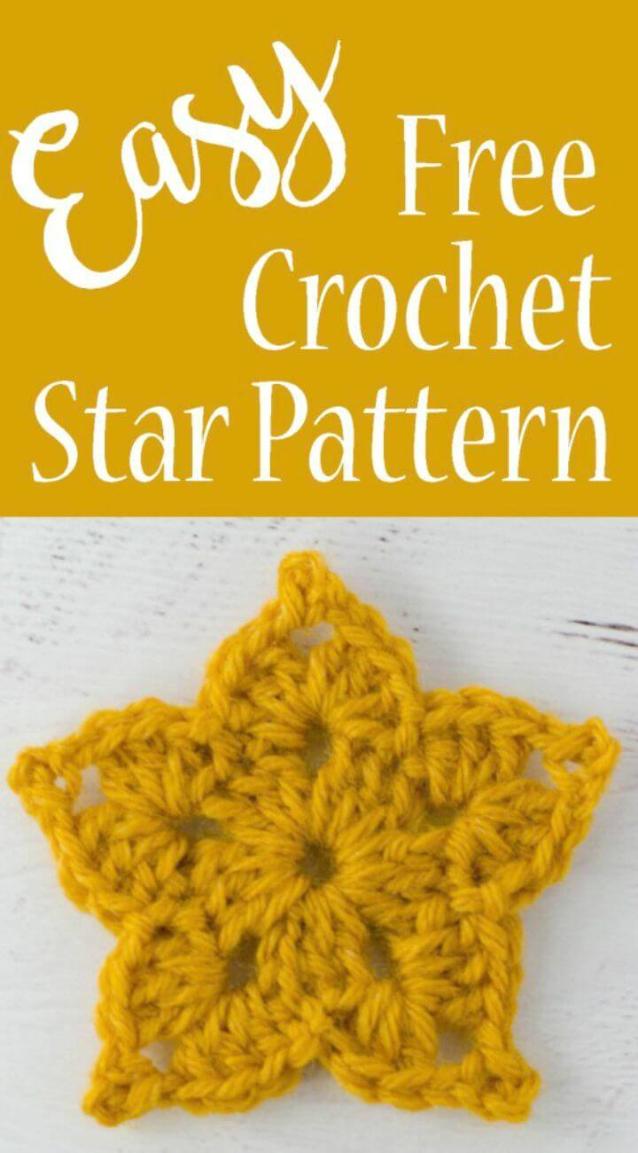 Easy How To Crochet Star - Free Pattern