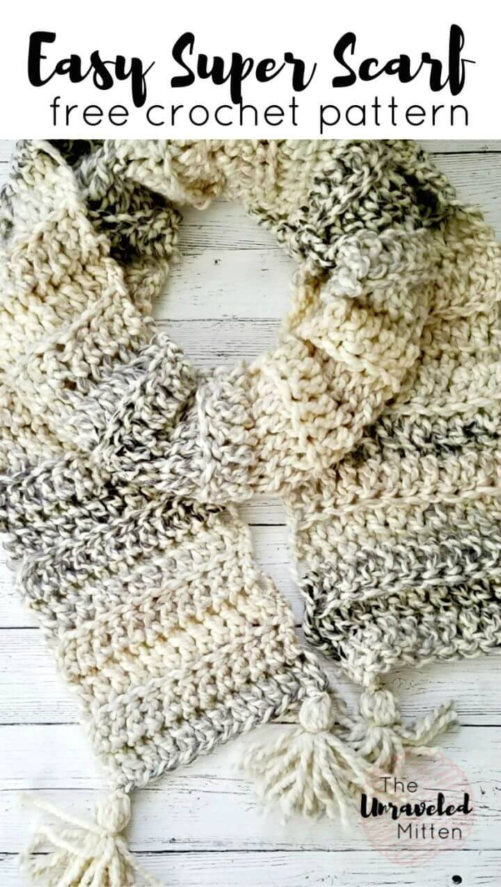 Super Easy Crochet Scarf - Free Pattern