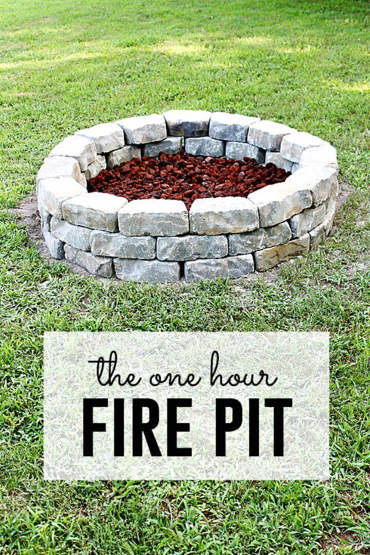 Easy How To DIY Fire Pit - Step By Step Tutorial