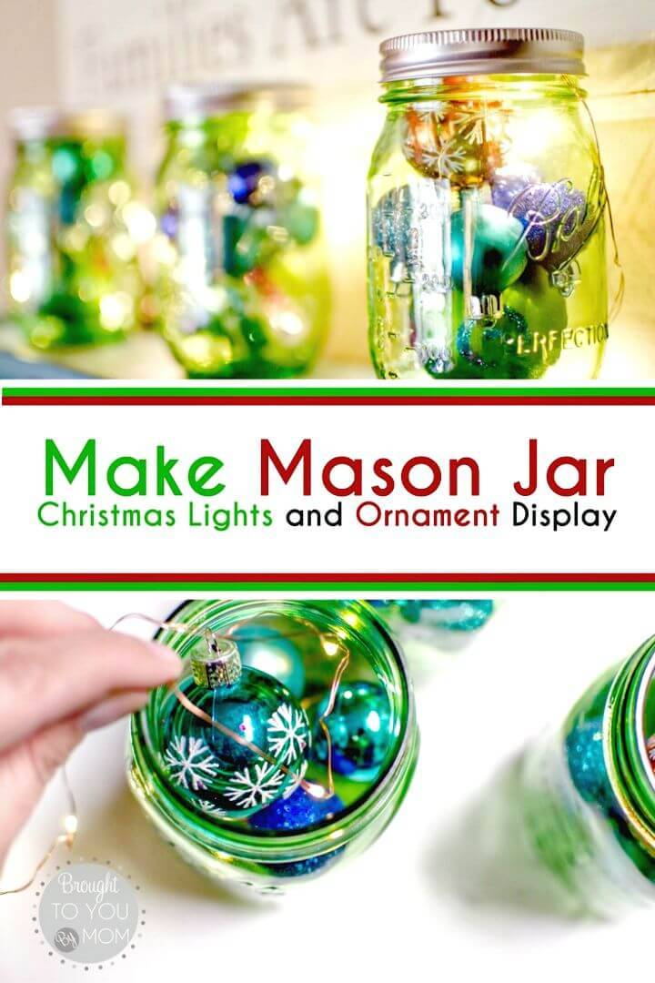 How To DIY Mason Jar Christmas Display - Step By Step Free Tutorial