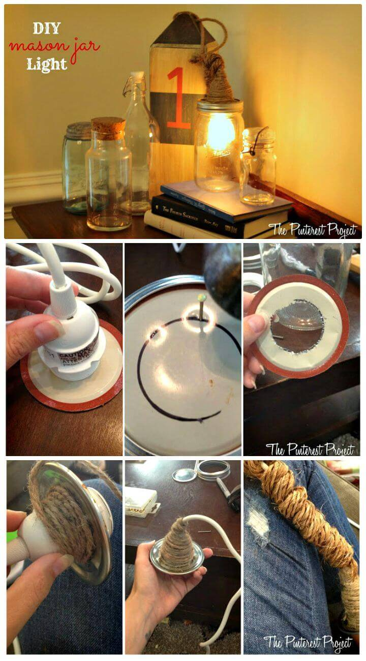 DIY Mason Jar Light - Mason Jar Crafts