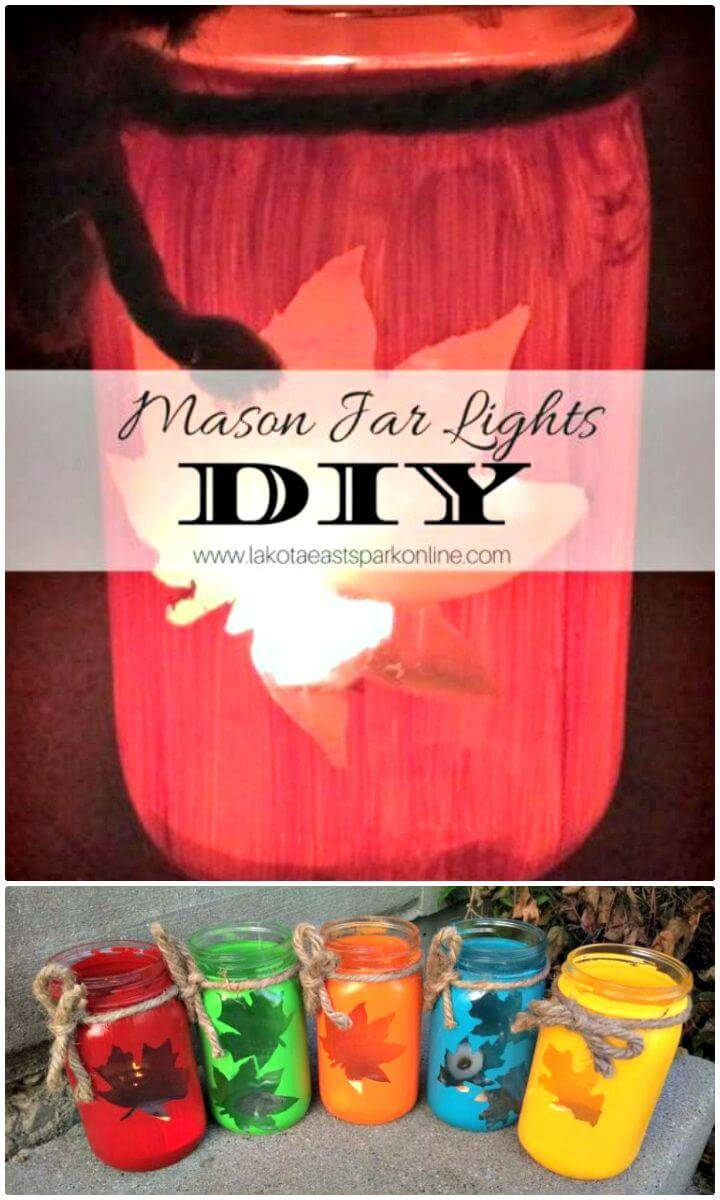 How To DIY Mason Jar Lights - Homemade Lights