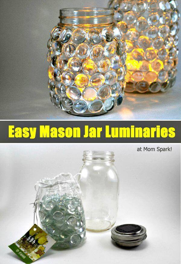 How To DIY Mason Jar Luminaries - Step By Step Free Tutorial