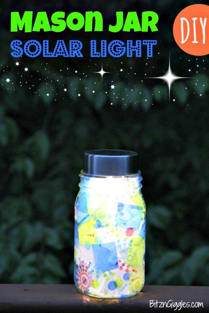 How To Make Mason Jar Solar Light - DIY Mason Jar Crafts