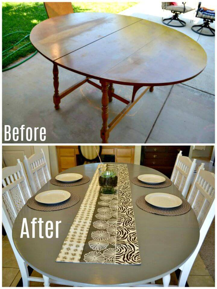 Easy Dining DIY Table Renovation - Free Tutorial