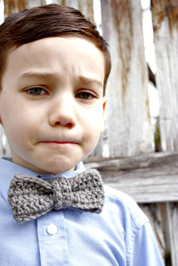 Easy Free Crochet A Bow Tie Pattern