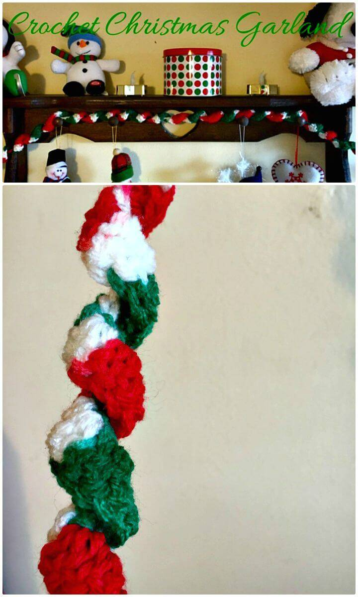 Easy Free Crochet Christmas Garland Pattern