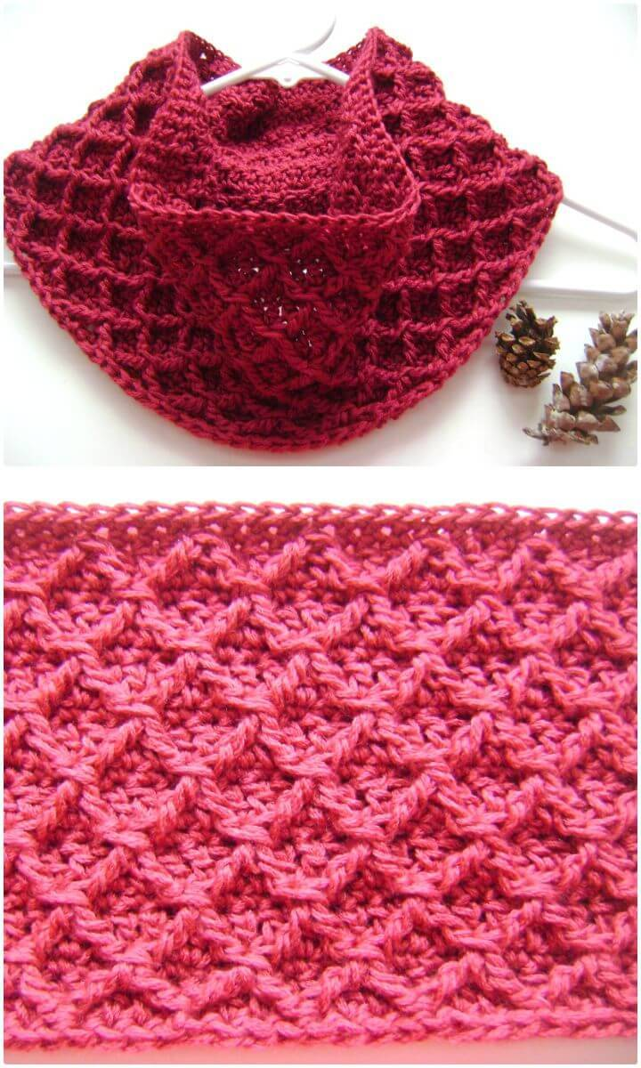 Free Crochet Diamond Cowl Pattern