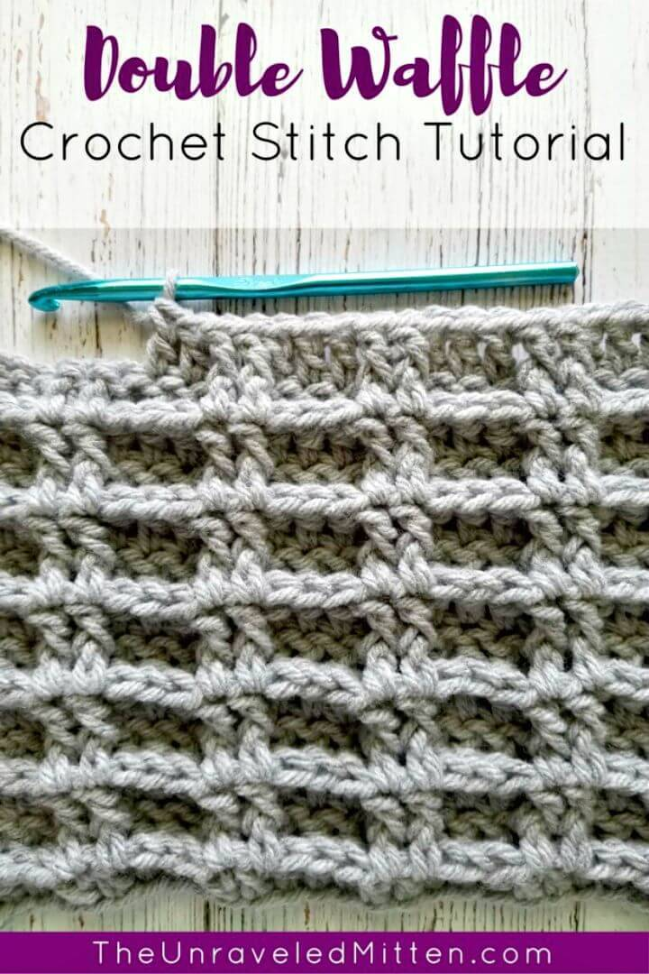 How To Free Crochet Double Waffle Stitch Pattern