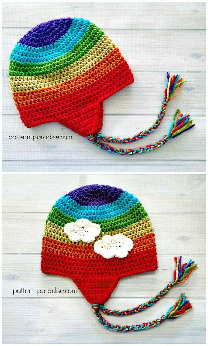 Easy Free Crochet Earflap Hat Pattern