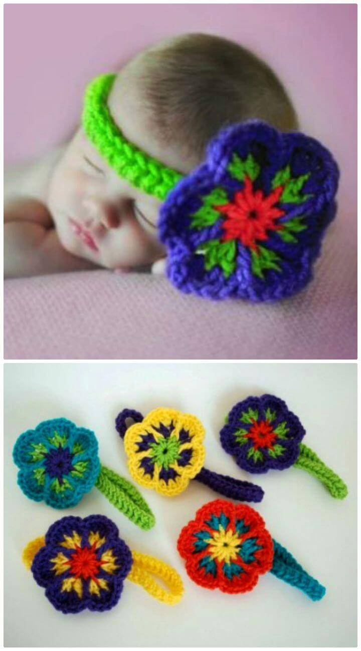 How To Free Crochet Flower With Bonus Headband Pattern