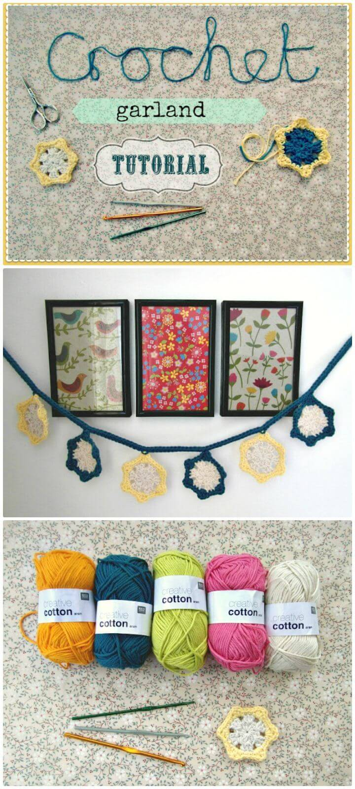 Easy Free Crochet Garland Tutorial