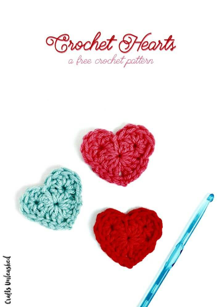 Easy Free Crochet Heart - Step By Step Pattern
