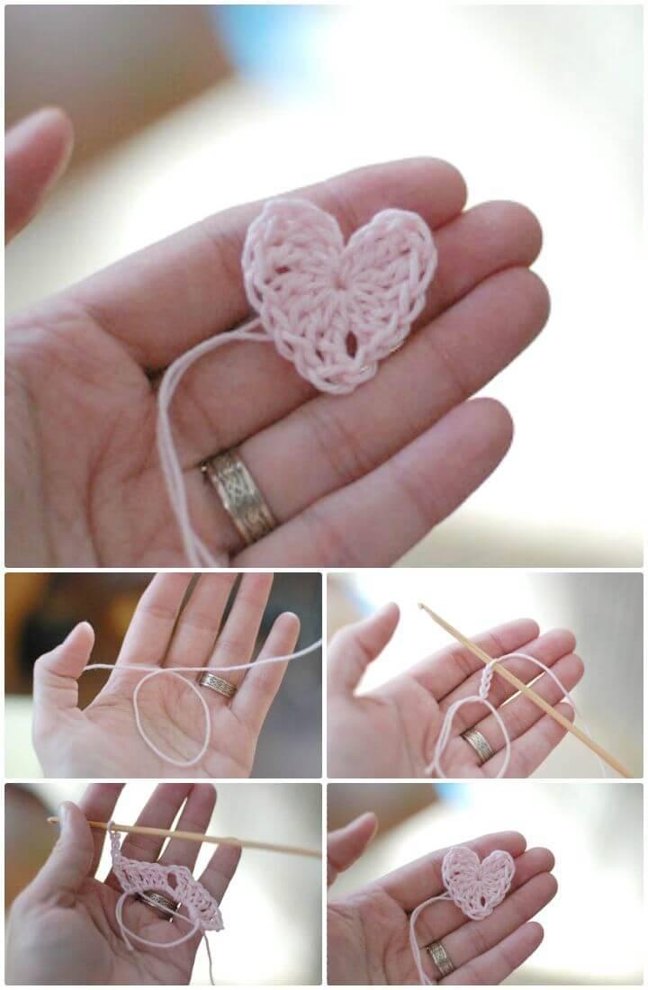 Easy Free Crochet Itty Bitty Heart Pattern