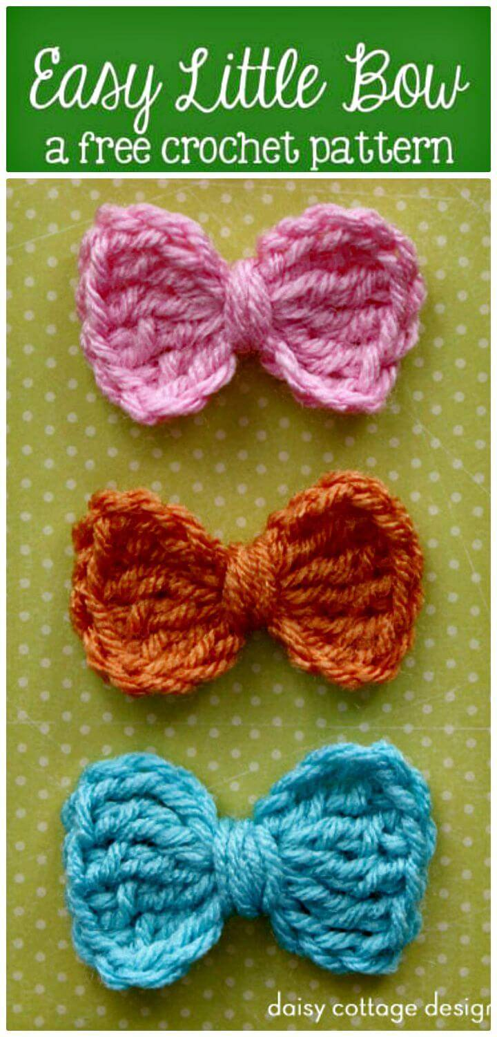 Easy Free Crochet Little Bow Pattern