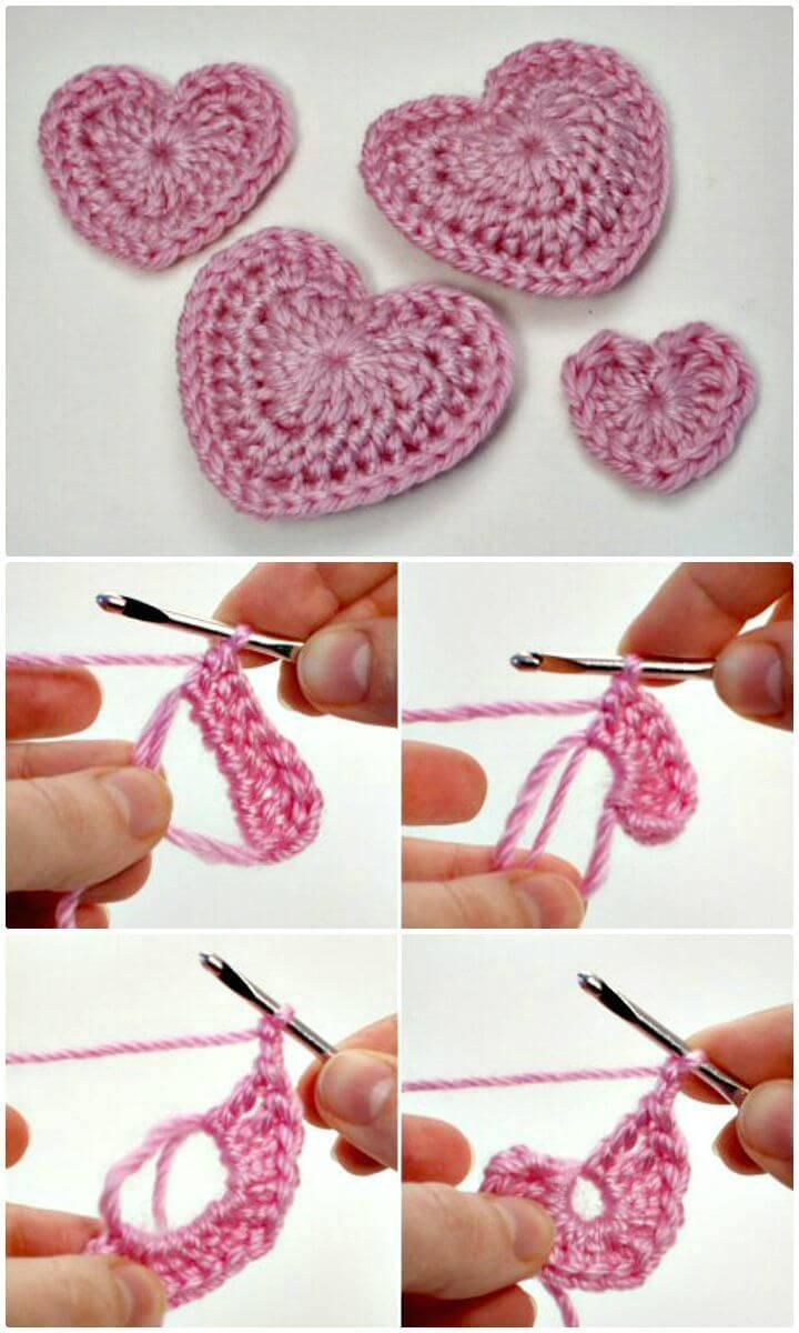 Easy Free Crochet Love Hearts Pattern