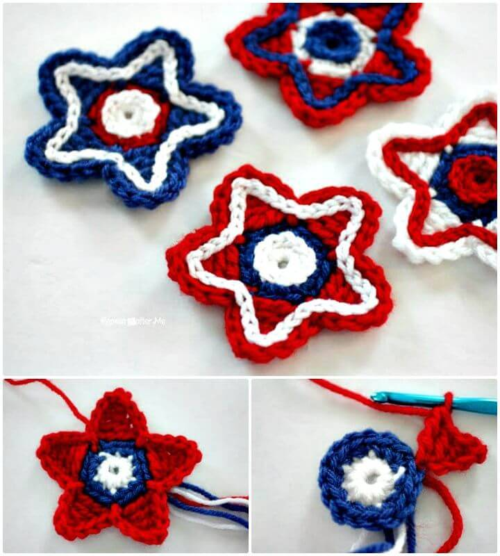 How To Free Crochet Patriotic Stars Pattern