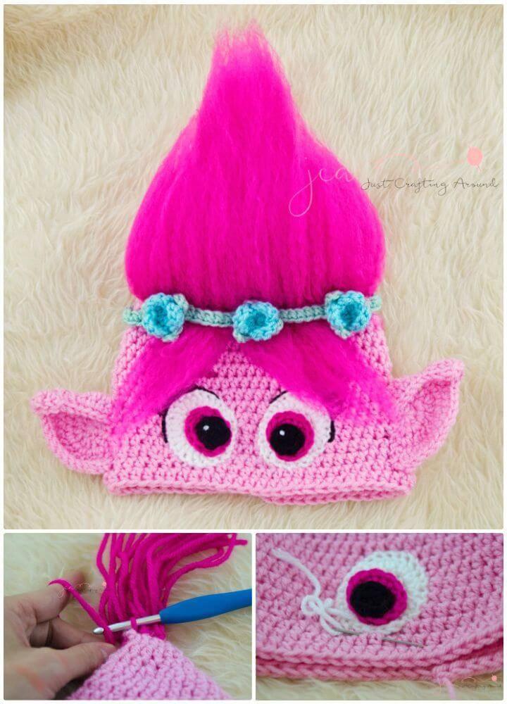 How To Free Crochet Poppy Hat Pattern