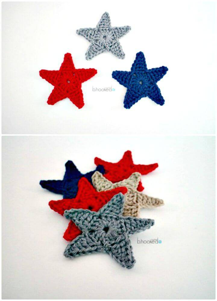 How To Free Crochet Star Applique Pattern