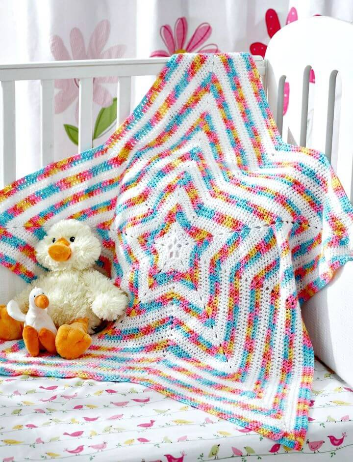 How To Free Crochet Star Blanket Pattern